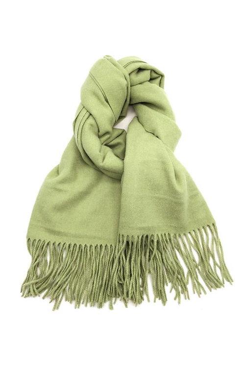 Schal aus weichem Kaschmir-Mix jade