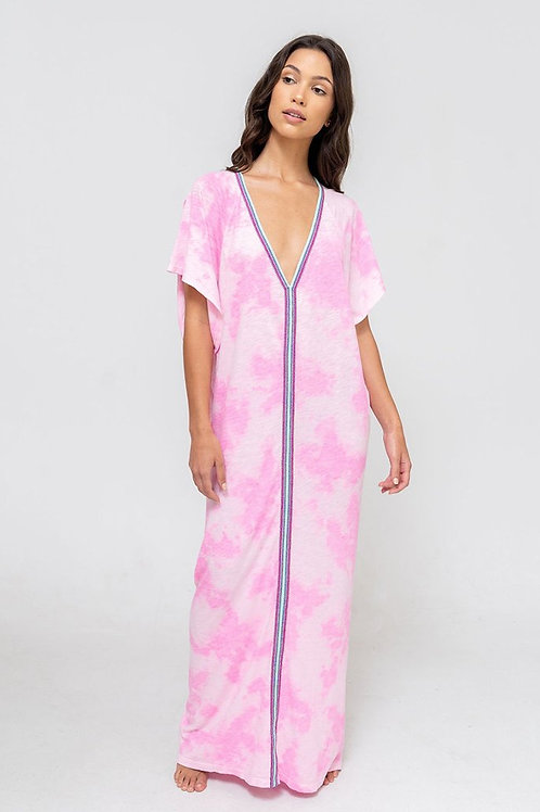 Pitusa Tie Dye Inca Abaya Bubblegum Pink
