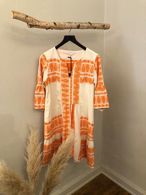 Nema kurzes Baumwolle-Kleid in Orange