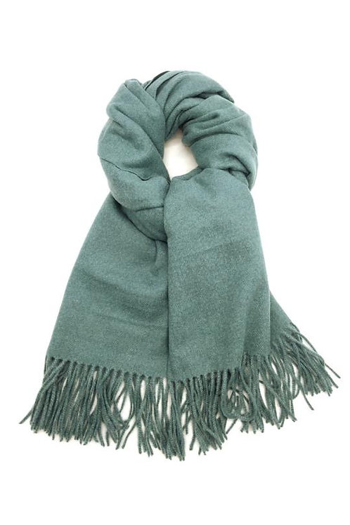 Schal aus weichem Kaschmir-Mix grün-blau