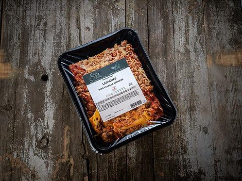Lasagnes pure volaille fermière de plein air, la barquette de 500g ou 900g