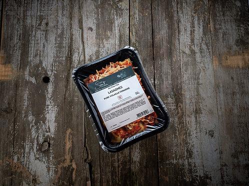 Lasagnes pure volaille fermière de plein air, la barquette de 500 g ou 900 g