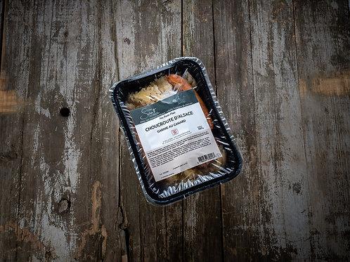 Choucroute au canard, la barquette de 470 g ou 900g