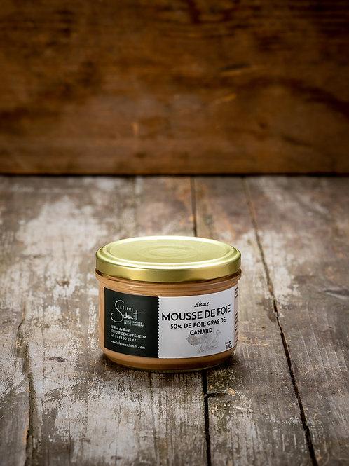 Mousse de foie de canard à 50% de foie gras, 70g ou 180g