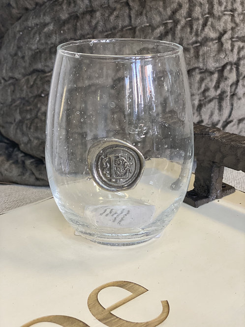 Wine Glass with letter
