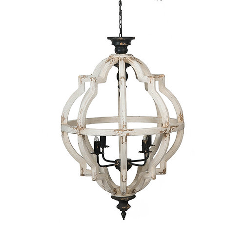 Distressed 4- light Chandelier
