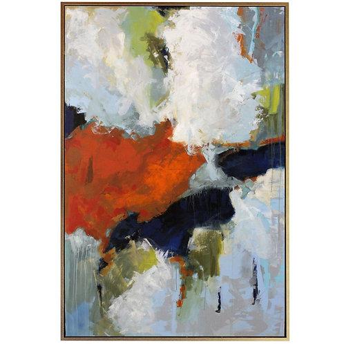 Retrograde Framed Canvas Art