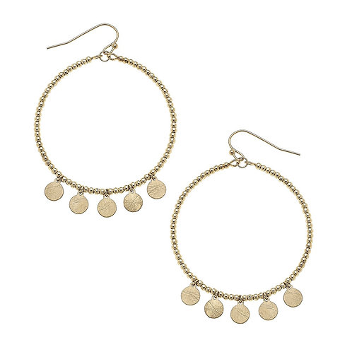 Alexi Hoop Earrings in Worn Gold Discs