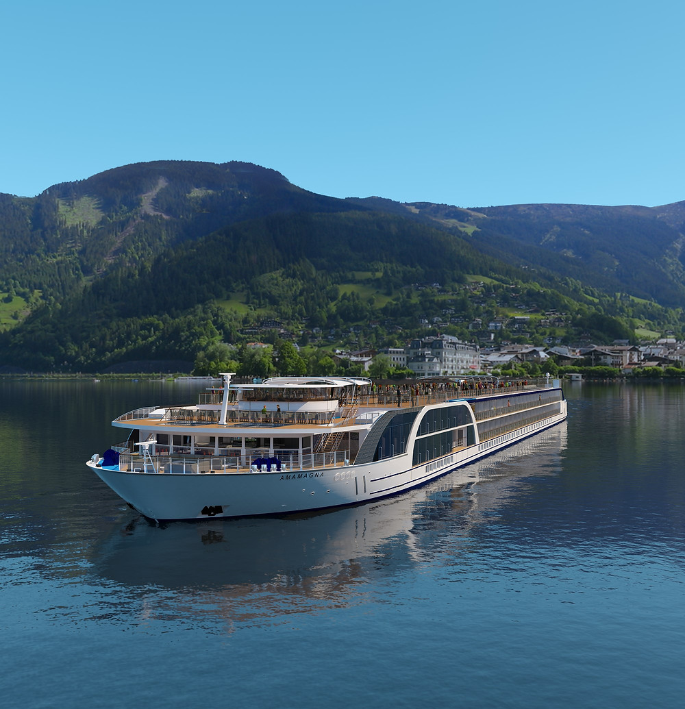 The AmaMagna River Cruise ship will be ready to sail in the summer of 2019 with her spacious and luxurious accommodations on the Danube River.
