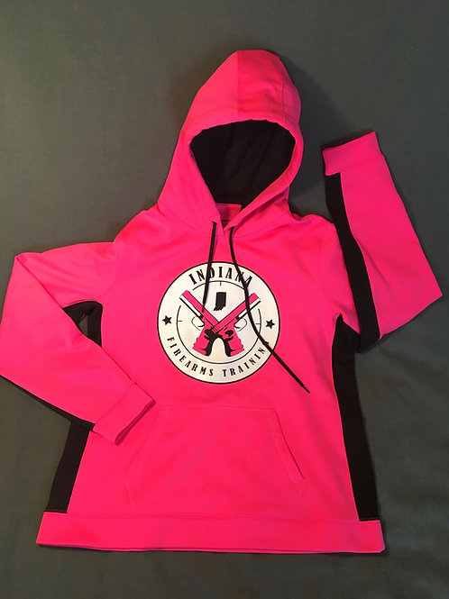 Lady's Cut Pink Moisture Wicking Hoodie