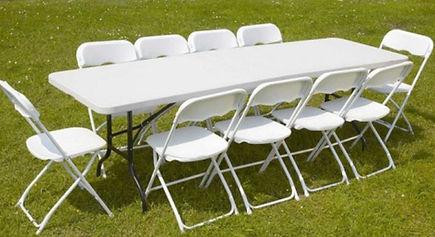 Table rectangulaire 10 personnes