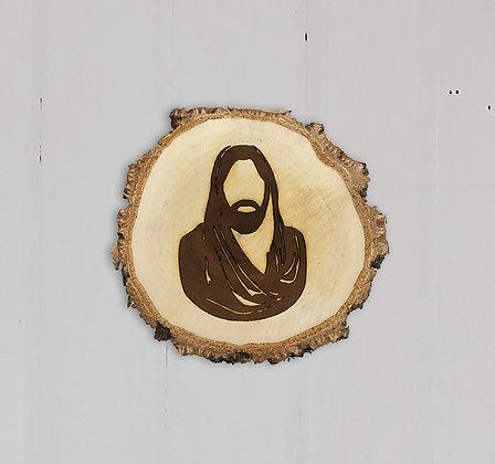 Jesus Engraving in Wood