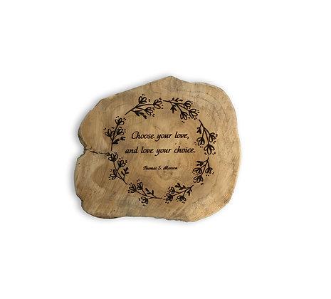 Custom Engraving in Wood