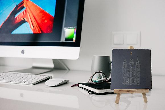 Custom Slate Desk Ornament