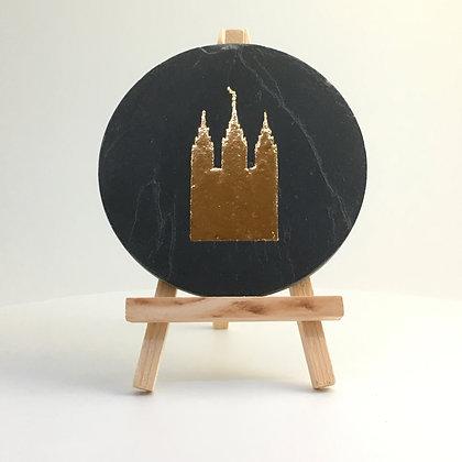 Desk Ornament - Salt Lake Temple Gold Edition