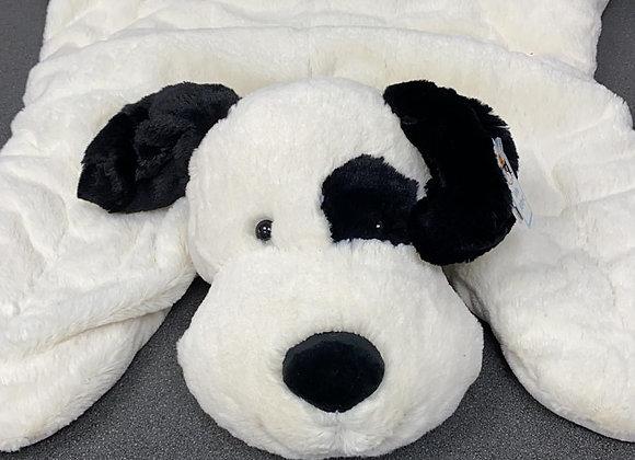 Bashful Black & Cream Puppy Sleeptime