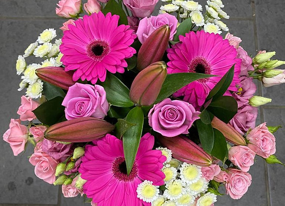 Florist's Choice Pinks and Whites Hand Tied Bouquet