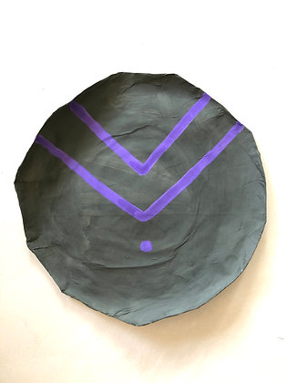 Wall décor kaki purple 209