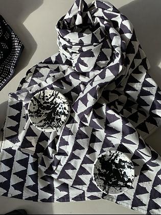 Grande nappe coton Sauvagette noire