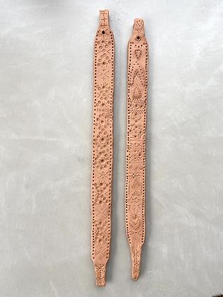 Zoulou duo en argile terracotta