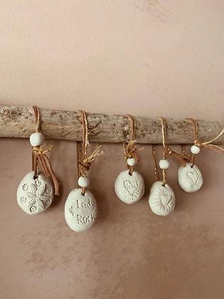 Les 5 Christmas Pendeloques blanche