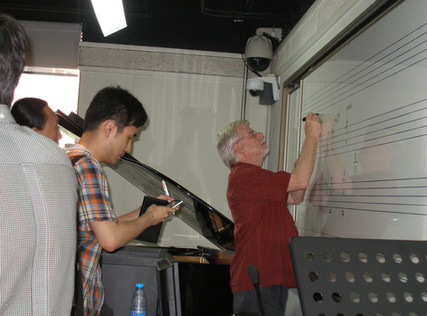 Sharing Some Big Band Voicings with Students in Beijing, 2014