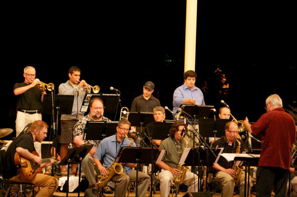 With the Colorado Jazz Orchestra in July 2013