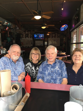 Linda and I were able to meet up with Dick and Winifred Goodwin in Blanco, TX in October 2018. Dick was my composition and jazz studies professor at UT in the late 60s - early 70s.