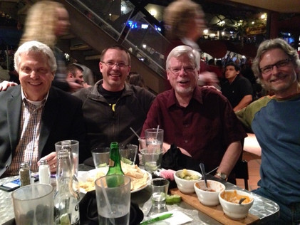 With Steve Widenhofer, Steve Owen, and Bob Washut at TMEA in February 2014. A wonderful time with 3 long-time friends!