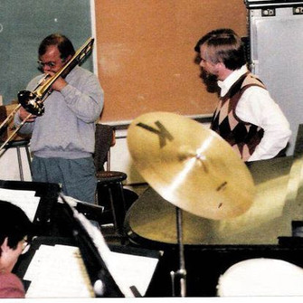 My Cal State L. A. Colleague Roy Main in a Rehearsal with the Band.