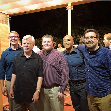 Four of my graduate composition students at the end of 2017/18 - John Mathews, Zach Rich, Shawn Williams, and Greg Weis - four excellent musicians!