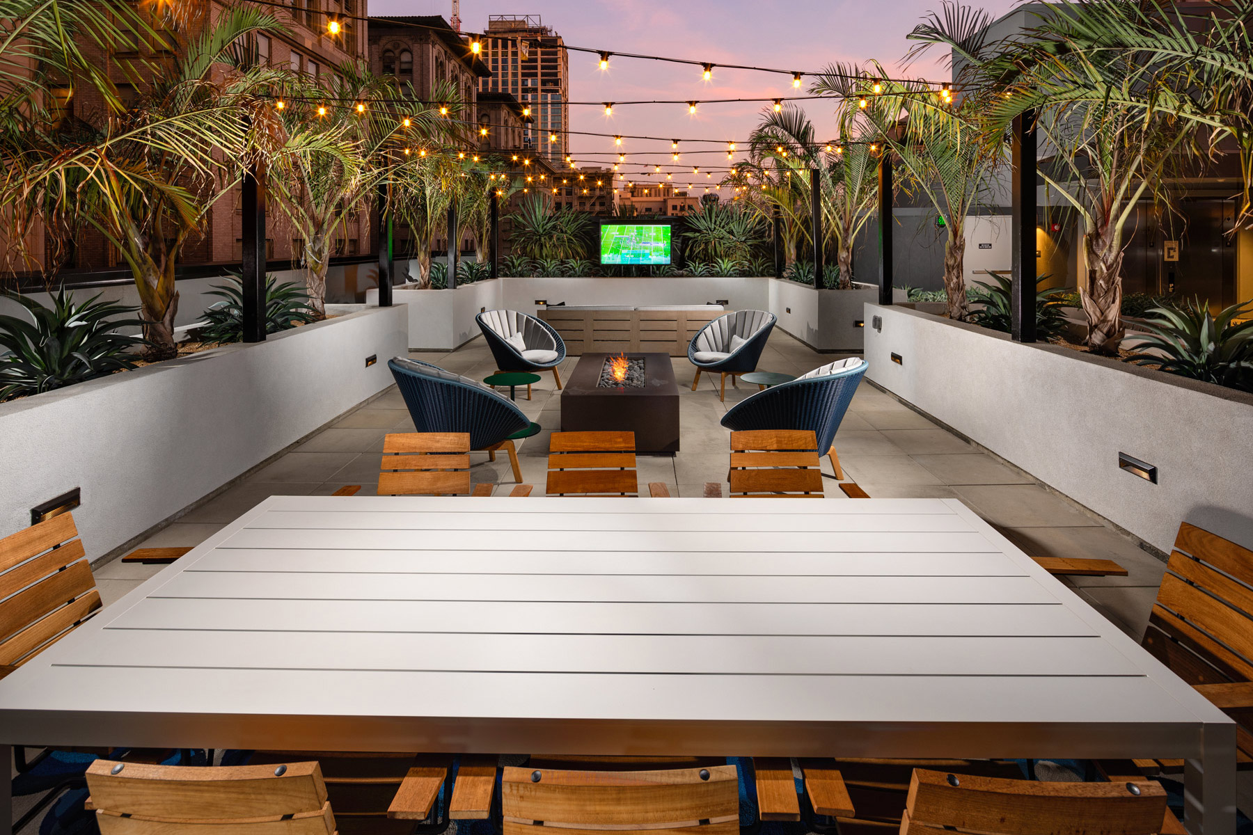Trademark Apartments outdoor table with chairs