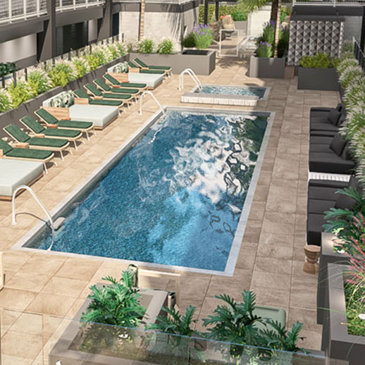 Haven Apartments outdoor swimming pool