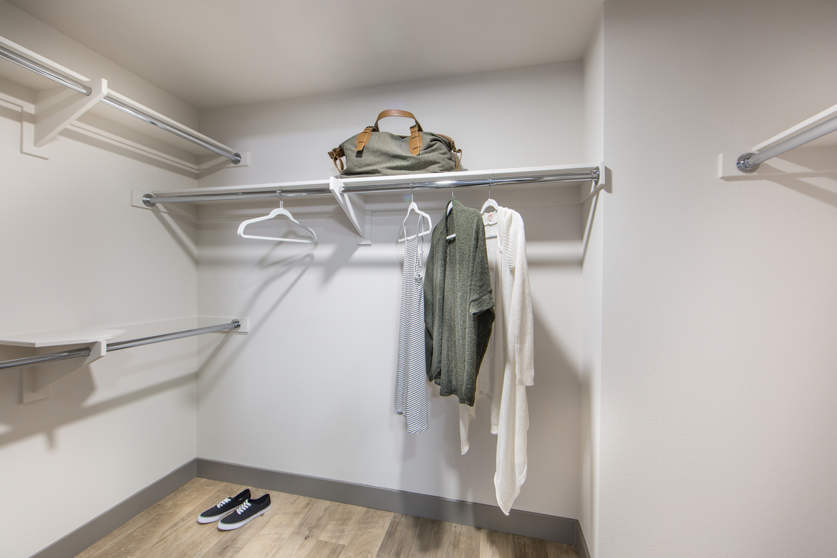 Access Apartments walk in closet space