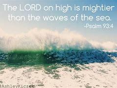 Waves hitting the beach