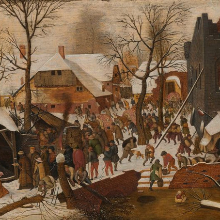 Cinema & the Arts as Sermons - The Adoration of the Magi in a Winter Landscape - Bruegel the Elder
