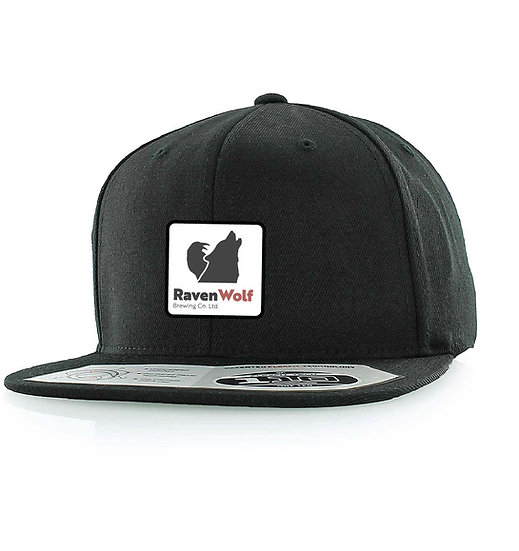 Flat Brim Black Flexfit Ball Cap
