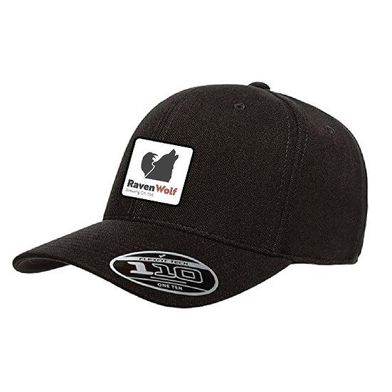 Curved Brim Black Flexfit Ball Cap