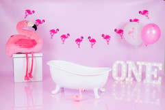 flamingo cakesmash melkbad