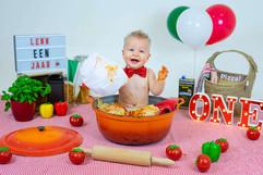 Spaghetti smash fotografie