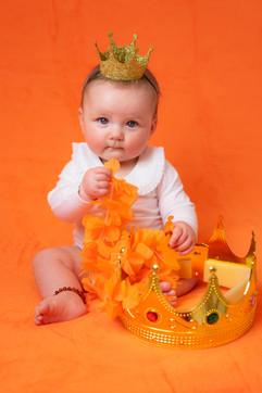 Koningsdag baby oranje foto