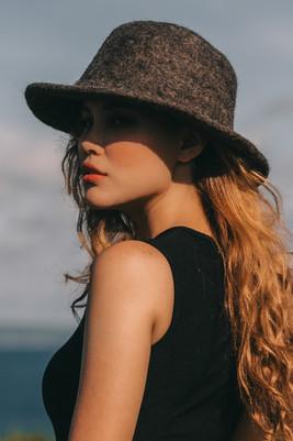 100% handmade wool felt hats-original color