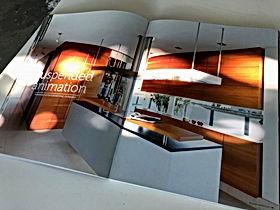 Publikationen von individuellem Innenarchitektur und Küchendesign mit hochwertigen Materialien, Küchengeräten, Lichtdesign, Farbkompositionen und Materialkollagen. Handwerkliche Ausführung bester Schreinerarbeit.