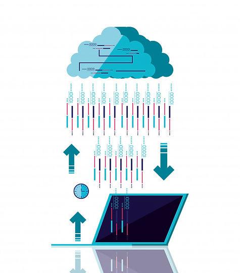 computador-em-nuvem-com-computador-porta