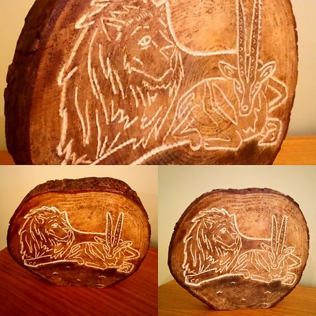 Wood carving by Moon Rabbit Craftworks