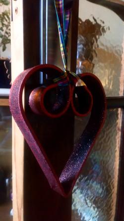 Metal sparkle heart