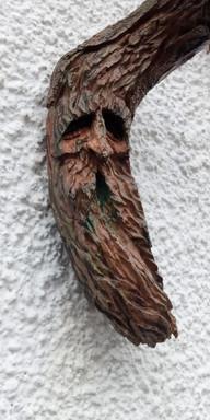 Driftwood spirit on driftwood by Moon Rabbit Craftworks