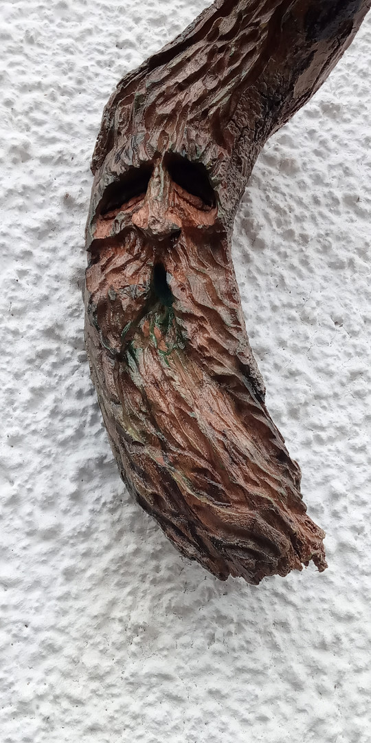 Driftwood spirit on driftwood by Moon Rabbit Craftworks