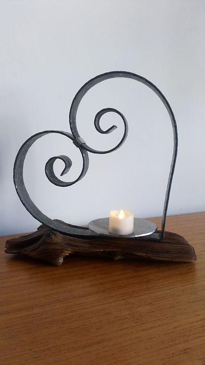Heart tea light holder by Moon Rabbit Craftworks