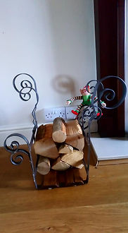Log holder by Moon Rabbit Craftworks